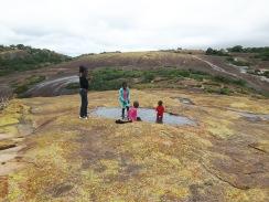 Paddling at the top of Efifi